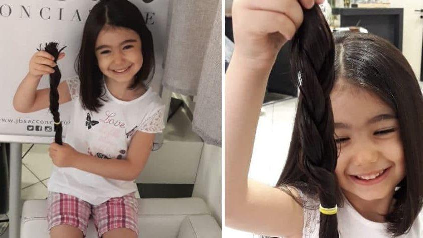 Emily, 5 anni ed un grande cuore, dona i suoi capelli ai bambini malati