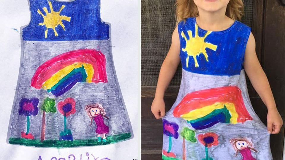 Un'azienda trasforma i disegni dei bambini in abiti esclusivi e colorati